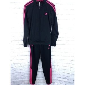 Adidas Tracksuit Pink and Black